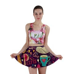 Cute Colorful Doodles Colorful Cute Doodle Paris Mini Skirt