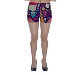 Cute Colorful Doodles Colorful Cute Doodle Paris Skinny Shorts