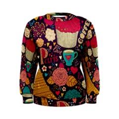 Cute Colorful Doodles Colorful Cute Doodle Paris Women s Sweatshirt