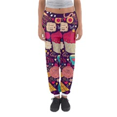 Cute Colorful Doodles Colorful Cute Doodle Paris Women s Jogger Sweatpants