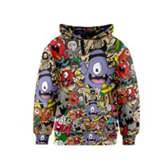 Hipster Wallpaper Pattern Kids  Pullover Hoodie