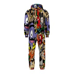 Hipster Wallpaper Pattern Hooded Jumpsuit (kids)