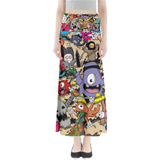 Hipster Wallpaper Pattern Maxi Skirts