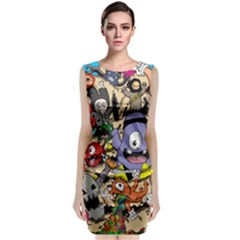 Hipster Wallpaper Pattern Classic Sleeveless Midi Dress