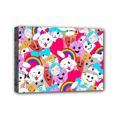 Cute Cartoon Pattern Mini Canvas 7  x 5