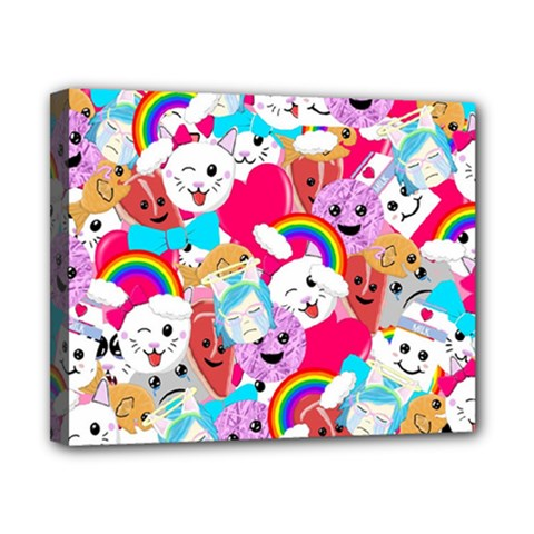 Cute Cartoon Pattern Canvas 10  X 8