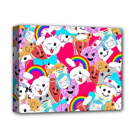 Cute Cartoon Pattern Deluxe Canvas 14  x 11
