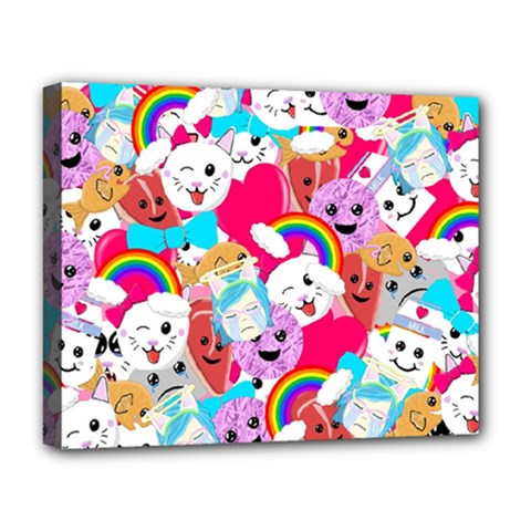 Cute Cartoon Pattern Deluxe Canvas 20  x 16