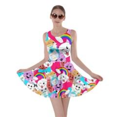 Cute Cartoon Pattern Skater Dress