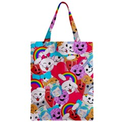 Cute Cartoon Pattern Zipper Classic Tote Bag
