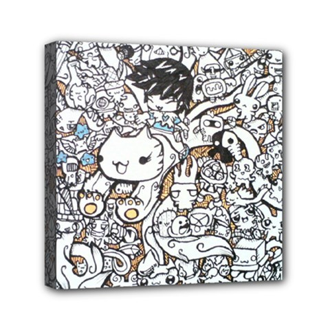 Cute Doodles Mini Canvas 6  x 6