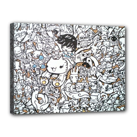 Cute Doodles Canvas 16  x 12