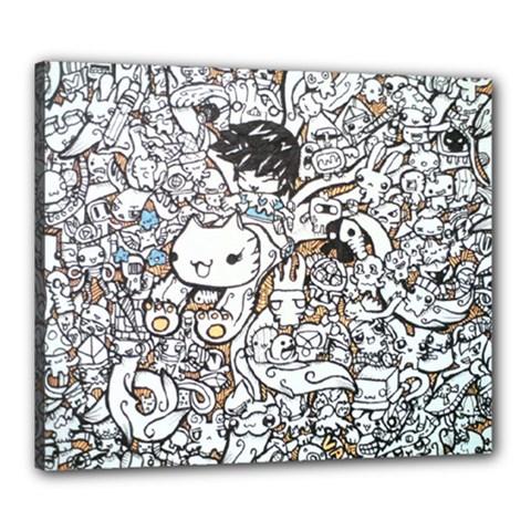 Cute Doodles Canvas 24  X 20