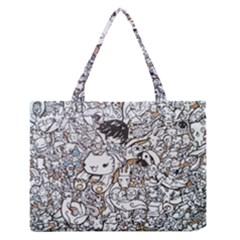 Cute Doodles Medium Zipper Tote Bag