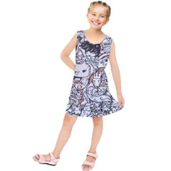 Cute Doodles Kids  Tunic Dress