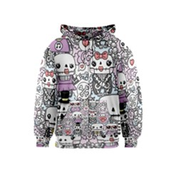 Kawaii Graffiti And Cute Doodles Kids  Zipper Hoodie