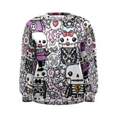 Kawaii Graffiti And Cute Doodles Women s Sweatshirt