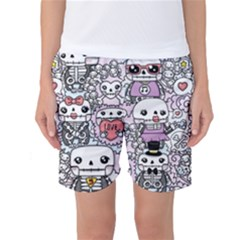 Kawaii Graffiti And Cute Doodles Women s Basketball Shorts