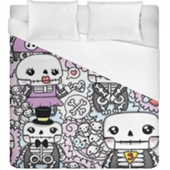 Kawaii Graffiti And Cute Doodles Duvet Cover (king Size)