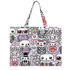 Kawaii Graffiti And Cute Doodles Large Tote Bag