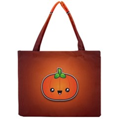 Simple Orange Pumpkin Cute Halloween Mini Tote Bag