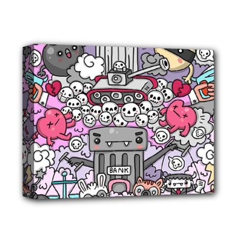 0 Sad War Kawaii Doodle Deluxe Canvas 14  x 11