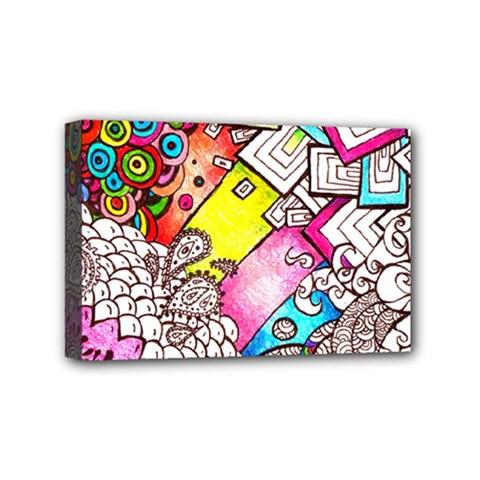 Beautiful Colorful Doodle Mini Canvas 6  x 4