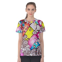 Beautiful Colorful Doodle Women s Cotton Tee