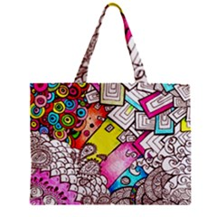Beautiful Colorful Doodle Mini Tote Bag