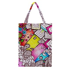 Beautiful Colorful Doodle Classic Tote Bag