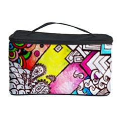 Beautiful Colorful Doodle Cosmetic Storage Case