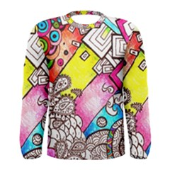 Beautiful Colorful Doodle Men s Long Sleeve Tee