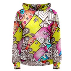 Beautiful Colorful Doodle Women s Pullover Hoodie
