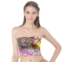 Beautiful Colorful Doodle Tube Top