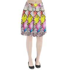 Beautiful Colorful Doodle Pleated Skirt