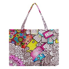 Beautiful Colorful Doodle Medium Tote Bag