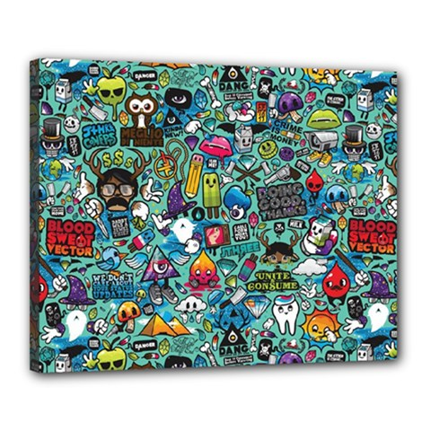 Colorful Drawings Pattern Canvas 20  X 16