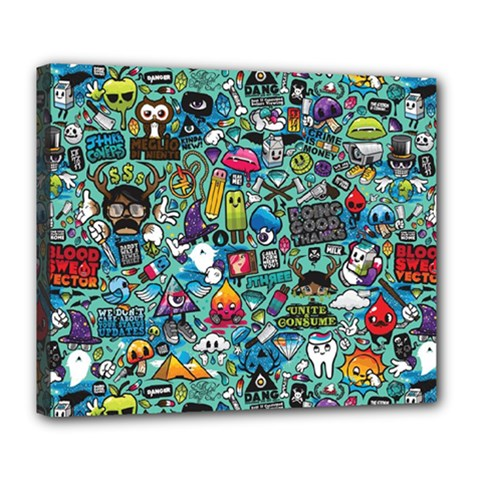 Colorful Drawings Pattern Deluxe Canvas 24  x 20