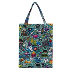 Colorful Drawings Pattern Classic Tote Bag