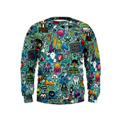 Colorful Drawings Pattern Kids  Sweatshirt