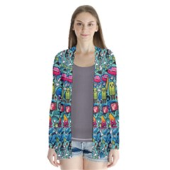 Colorful Drawings Pattern Cardigans