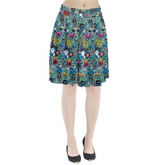 Colorful Drawings Pattern Pleated Skirt