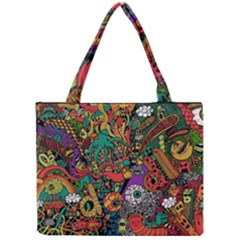 Monsters Colorful Doodle Mini Tote Bag