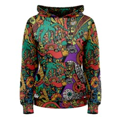 Monsters Colorful Doodle Women s Pullover Hoodie