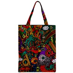 Monsters Colorful Doodle Zipper Classic Tote Bag