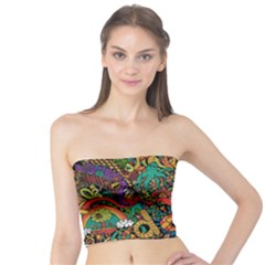 Monsters Colorful Doodle Tube Top