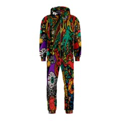 Monsters Colorful Doodle Hooded Jumpsuit (Kids)