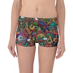 Monsters Colorful Doodle Boyleg Bikini Bottoms