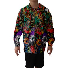 Monsters Colorful Doodle Hooded Wind Breaker (Kids)