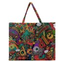 Monsters Colorful Doodle Zipper Large Tote Bag View1